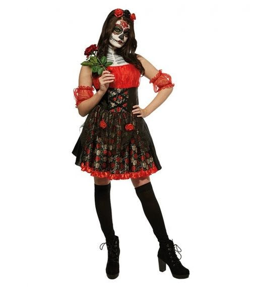 RUBIES Red Rose Day Of The Dead