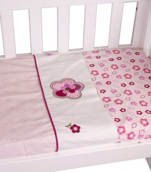 BABYHOOD Amani Bebe Raspberry Garden 3 Piece Cradle Sheet Set