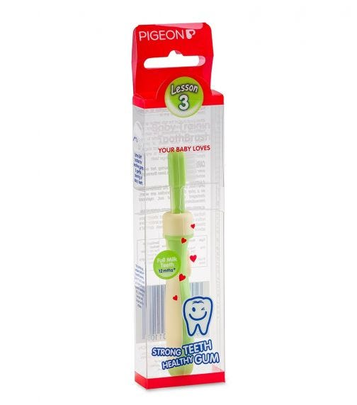 PIGEON Green Training Toothbrush L-3