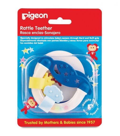 PIGEON Night & Day Rattle Teether R-2