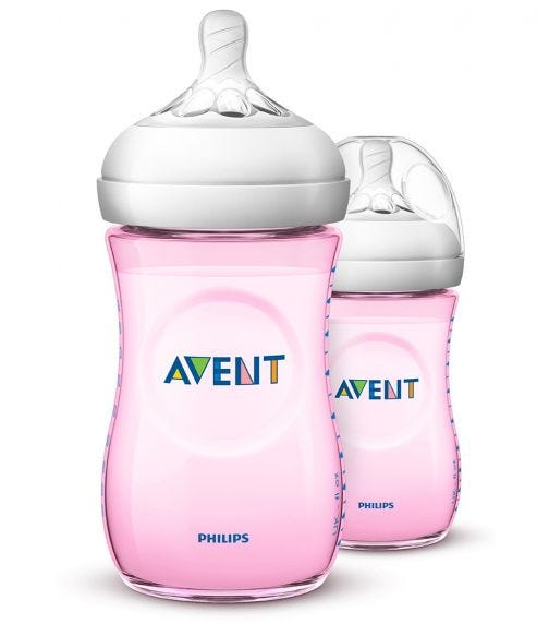 PHILLIPS AVENT Natural 2.0 Bottle 260 ML X2 Pink