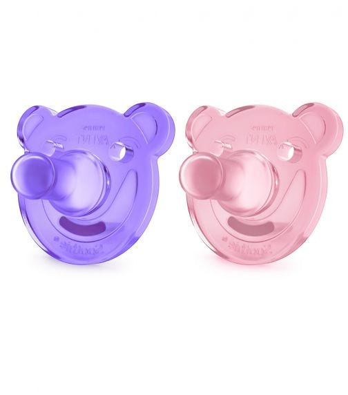 PHILLIPS AVENT Soothie Silicone 0-3M Girl X2