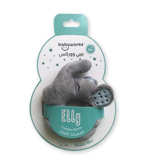 BABY WORKS Bibibaby Cuddle Rattle Elly Elephant
