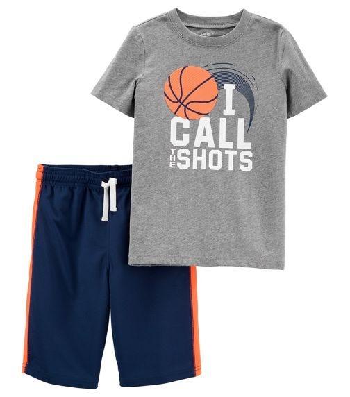 CARTER'S 2-Piece Call The Shots Jersey Tee & Mesh Short Set