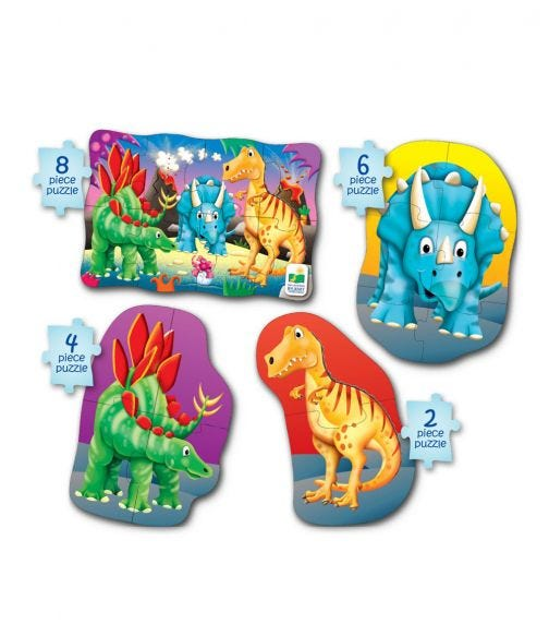 THE LEARNING JOURNEY Jumbo 50 Piece Puzzle Dinosaurs
