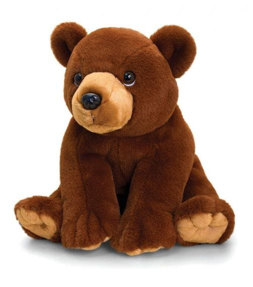 KEEL TOYS UK 30 cm Grizzly Bear Soft Toy
