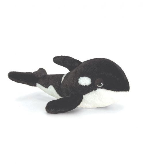 KEEL TOYS UK 35 cm Orca Whale Soft Toy