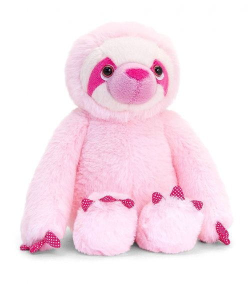 KEEL TOYS UK 25 cm Cecille The Sloth Soft Toy 2 Assorted