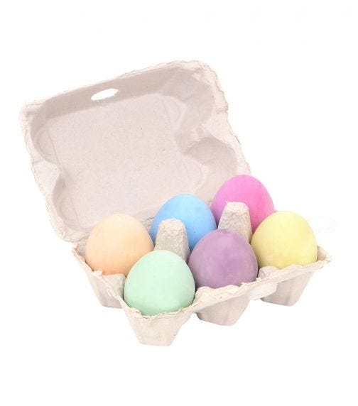 MICADOR Egg Chalk (Pack Of 6) Early Start Series