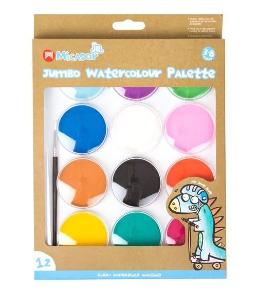 MICADOR Watercolour Palette Stylist, Disc 12 Colors Micador Jr