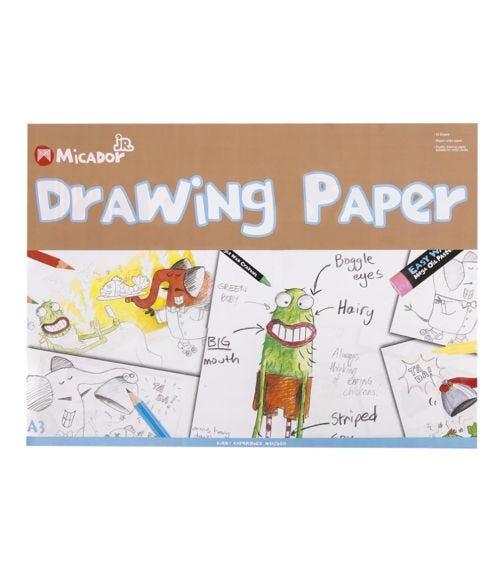 MICADOR Kids Drawing Paper, A3 Pad Micador Jr