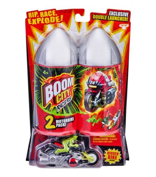 BOOM CITY RACERS S2 Motorbikes 2 Pack - Assorted