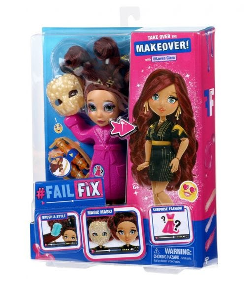 FAIL FIX S1 Total Makeover Doll Pack - Glamaz0Ngrl