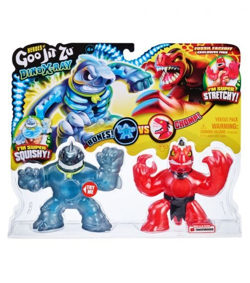 GOO JIT ZU S4 Dino Hero Power Bones Verus Pack - Thrash Vs. Veraptz