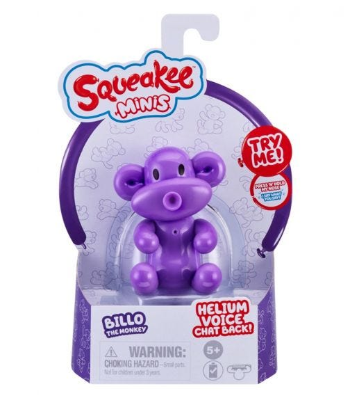 SQUEAKEE Minis S1 Single Pack - Monkey