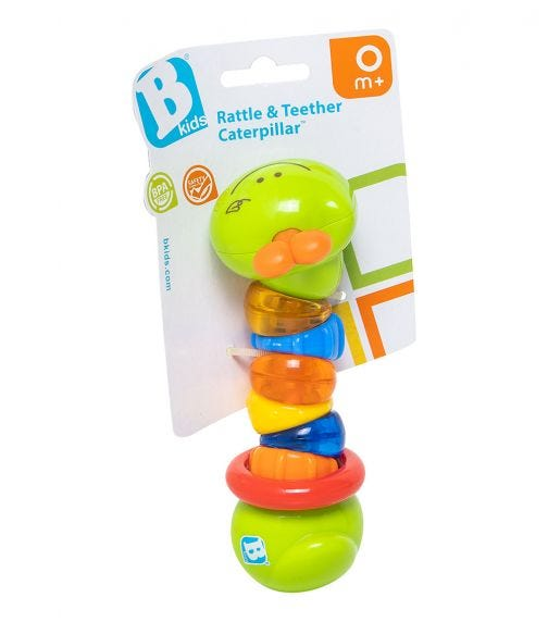 INFANTINO B-Kids Rattle Teether Caterpillar