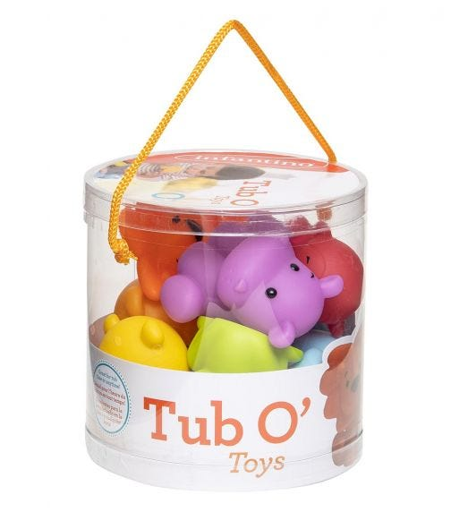 INFANTINO Tub-O-Toys Bath Toys - Set Of 9 - Multicolour