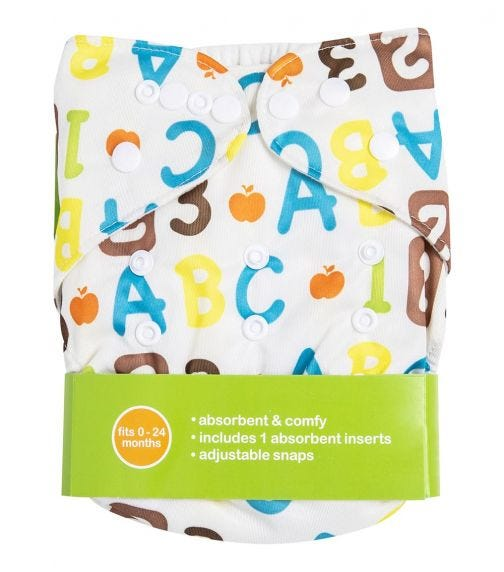 BABY VISION Reusable Diaper All-In-One - Numbers Printed