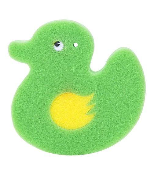 REEMA VISION Loveliest Baby Bath Sponge - Green Yellow Duck