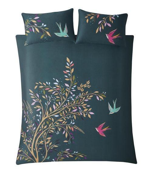 SARA MILLER Dancing Swallow Print King Quilt Set (260x220cm)