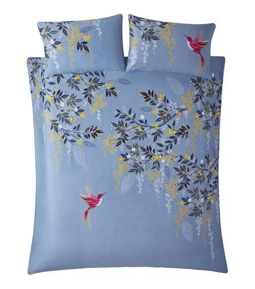 SARA MILLER Hummingbird Print King Quilt Set (230x220cm)