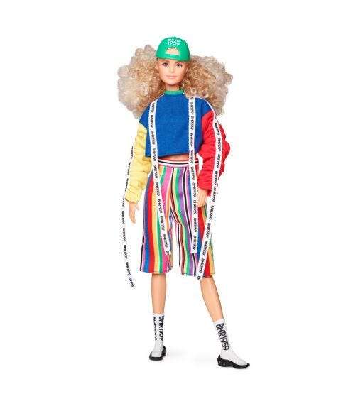 BARBIE Bmr99 Doll Barbie With Sock Sneakers
