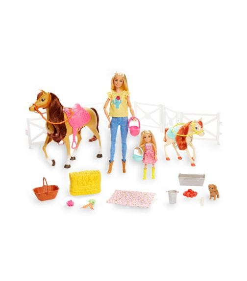 BARBIE Dolls Horses And Accessories