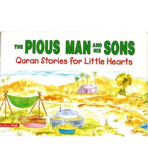 GOODWORD The Pious Man And His Sons (Paperback Cover)
