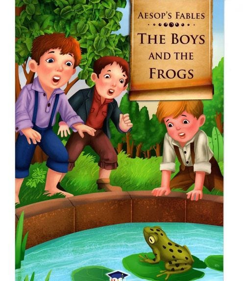 HOME APPLIED TRAINING Aesop's Fables The Boys And The Frogs
