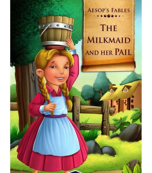 HOME APPLIED TRAINING Aesop's Fables The Milkmaid And Her Pail