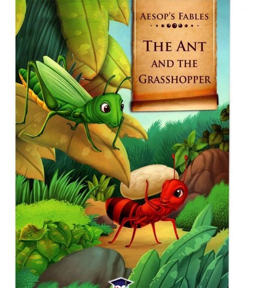 HOME APPLIED TRAINING Aesop's Fables The Ant And The Grasshopper