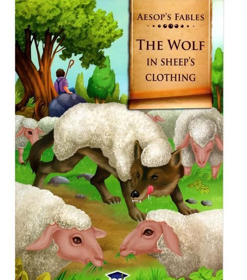 HOME APPLIED TRAINING Aesop's Fables The Wolf In Sheep's Clothing