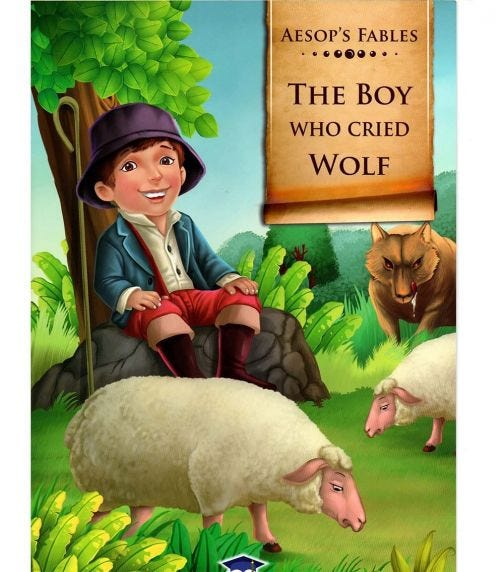 HOME APPLIED TRAINING Aesop's Fables The Boy Who Cried Wolf