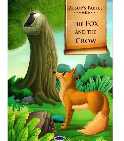 HOME APPLIED TRAINING Aesop's Fables The Fox And The Crow