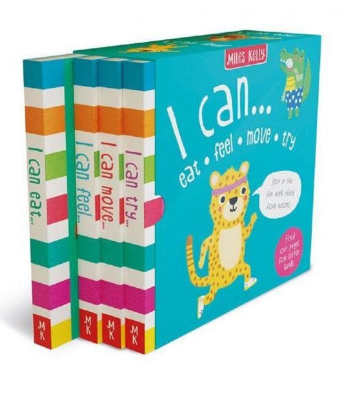 MILES KELLY I Can Eat, Feel, Move, Try - 4 Book Set