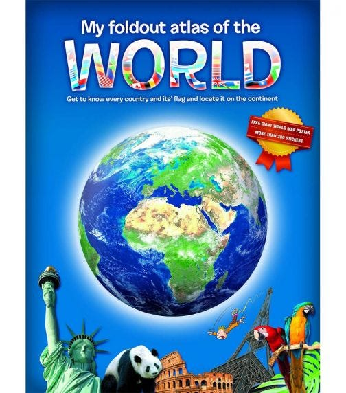 YOYO BOOKS My Fold-Out Atlas Of  The World Includes A Giant Poster