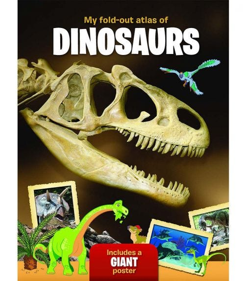 YOYO BOOKS My Fold-Out Atlas Of Dinosaurs Includes A Giant Poster