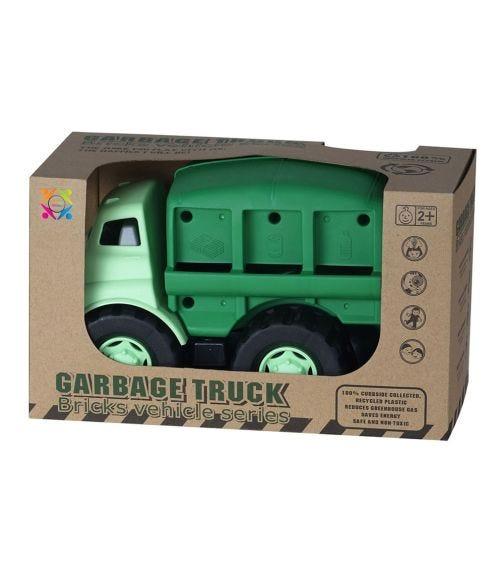 ROLL UP KIDS Eco Friendly Garbage Truck Bricks Vehicle