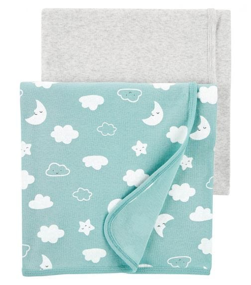 CARTER'S 2-Pack Clouds Receiving Blankets
