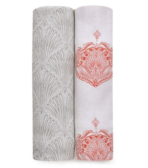 ADEN + ANAIS Classic 2-Pack Swaddles Paisley - Multi