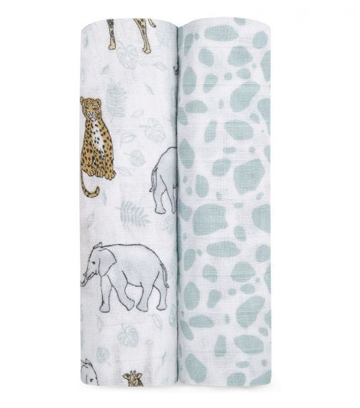 ADEN + ANAIS Classic 2-Pack Swaddles - Jungle