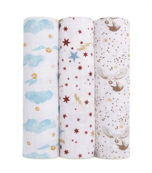 ADEN + ANAIS Classic 3-Pack Swaddles - Harry Potter