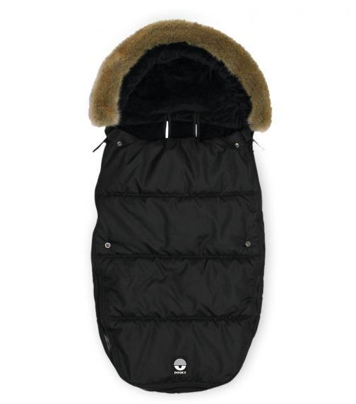 DOOKY Foot-Muff (Large) Black Furry