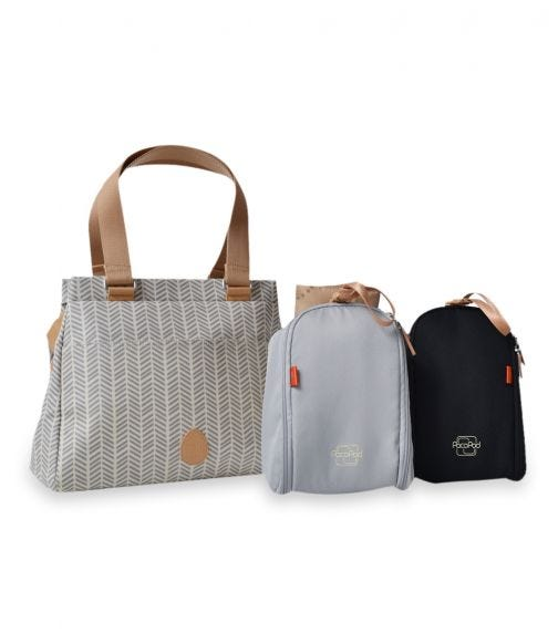PACAPOD Richmond Travel Bag - Dove Herringbone