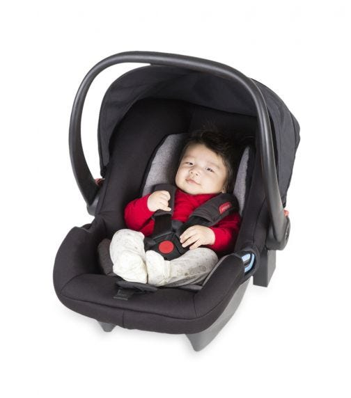 PHIL&TEDS Alpha Baby Carseat Black/Silver