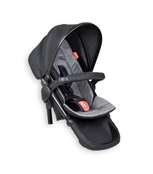 PHIL&TEDS Double Kit Extra Stroller Seat - Charcoal
