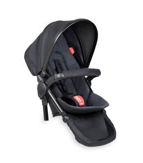 PHIL&TEDS Double Kit Extra Stroller Seat - Black