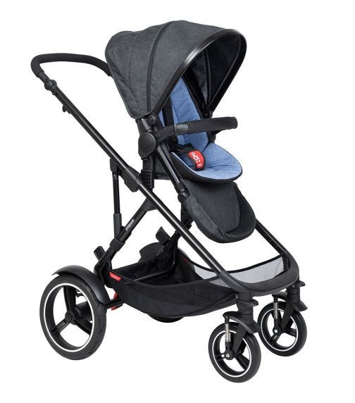 PHIL&TEDS Double Kit Extra Stroller Seat - Sky