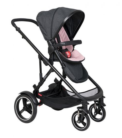 PHIL&TEDS Double Kit Extra Stroller Seat - Blush