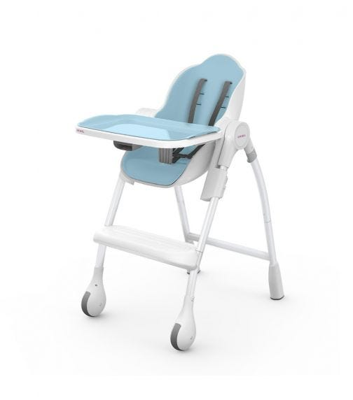 ORIBEL Cocoon Highchair - Blue Raspberry Marshmallow